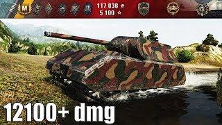 Maus как играют ТОП статисты 12100+ dmg 🌟 World of Tanks лучший бой 🌟 рекорд по урону wot