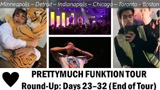 PRETTYMUCH Funktion Tour Round Up: Days 23 32 (End Of Tour)