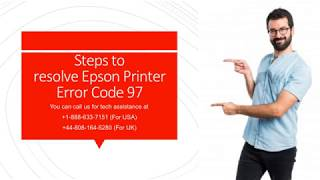 Steps to fix Epson Printer Error Code 97