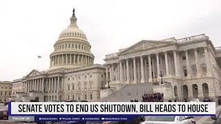 Senate votes to end US shutdown, bill heads to House