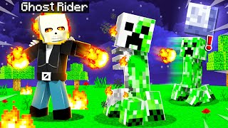 PLAYING As GHOST RIDER In MINECRAFT!