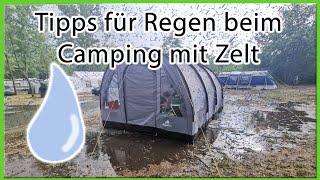 Tipps für Regen beim Camping mit Zelt | Hacks | Gadgets | zelten mit Kind