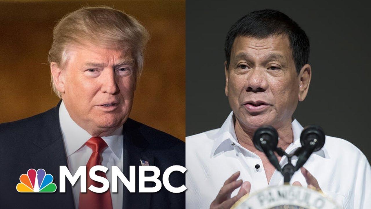 President Trump Blurts Classified Submarine Intel To Philippine President | Rachel Maddow | MSNBC thumbnail