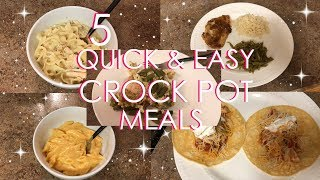 QUICK AND EASY CROCK POT MEALS | FAMILY DINNER | EASY MEALS