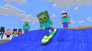 Monster School : FUNNIEST SURFING - Minecraft Animation