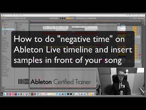 "VIDEO] ""Negative time"" / insert samples before songs on"
