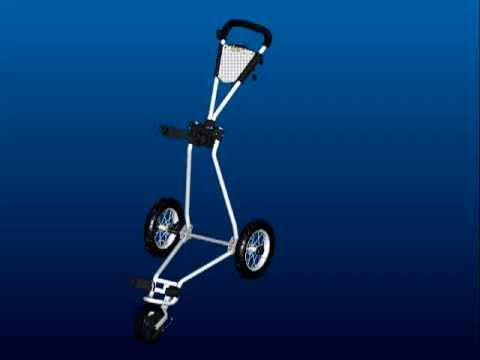 Big Max Ti 1000 Junior Golf Trolley - Folding animation