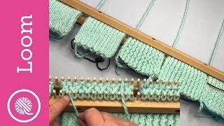 Loom | Double Knit Stockinette Comparison (6 Stitches)