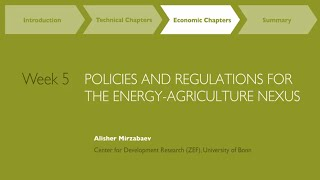 MOOC Week 5: Policies and Regulations