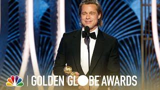 Brad Pitt Wins Best Supporting Actor - 2020 Golden Globes