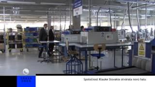 preview picture of video 'Spoločnost Klauke Slovakia otvárala novú halu'