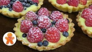 Корзиночки (тарталетки) с заварным кремом и ягодами