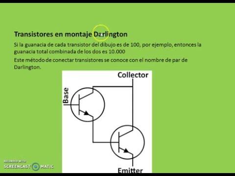 TRANSISTORES 5 GANACIA Y MONTAJE DARLINGTON