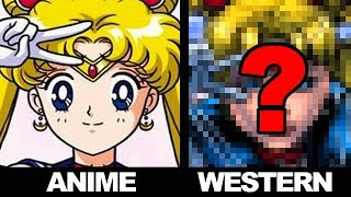 Drawing ANIME in a WESTERN STYLE - SAILOR MOON!