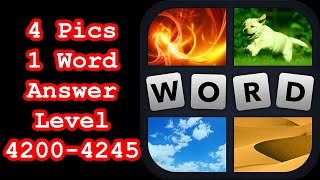 4 Pics 1 Word - Level 4200-4245 - Find 8 professions! - Answers Walkthrough