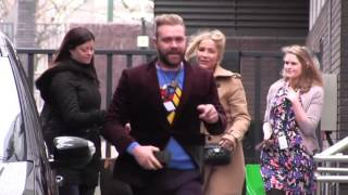 Heidi Range And Daniel Beddingfield Spotted Leaving ITV Studios