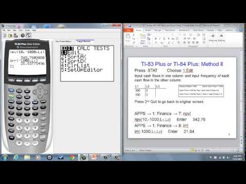 Compute NPV and IRR using TI-84 Plus Finance Function