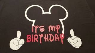 Mickey Mouse Birthday Shirt/ Cricut Design Space
