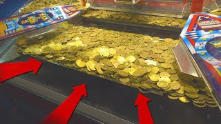 BIGGEST COIN PUSHER JACKPOT EVER!!