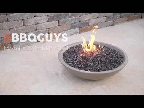 BBQGuys Marseille 32 Inch Fire Bowl-Smoke