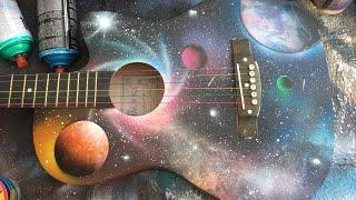 Spray Paint Art On My Guitar