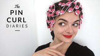 The Vintage Brush Out From Hell (Rollers #1) | The Pin Curl Diaries #3