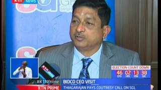 Bidco CEO Thiagarajan Ramamurthy pays courtesy call to Standard group CEO Sam Shollei