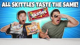 ALL SKITTLES TASTE THE SAME?!!! Evan Sneaks Candy! Mind Tricks & Zombie Skittles Prank!
