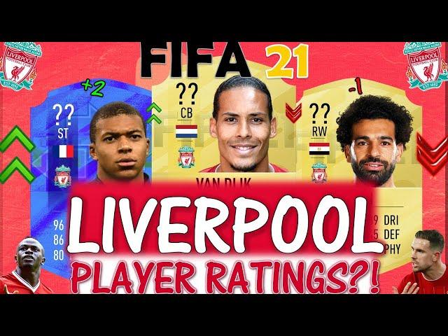 FIFA 21 | LIVERPOOL PLAYER RATINGS PREDICTIONS!! FT. VAN DIJK, MBAPPE, SALAH ETC... (FIFA 21)