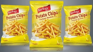 Potato Chips Packaging Design In Photoshop Tutorial | Product Packaging