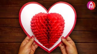 DIY 3D Heart ❤️ Pop Up Card | Valentine Pop Up Card