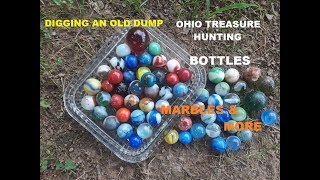 Ohio Treasure Hunting Digging OLD DUMP Antique Bottles Marbles Discovery Channel GoPro Hero
