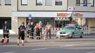 preview picture of video 'Bombenalarm durch Koffer in Raiffeisenbank, Rain Am Lech'