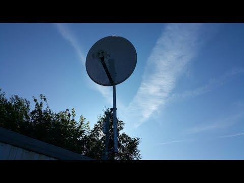 LTE через облучатель Антекс UMO-3 MIMO 2x2 на параболической антенне 1 м, wAP LTE kit