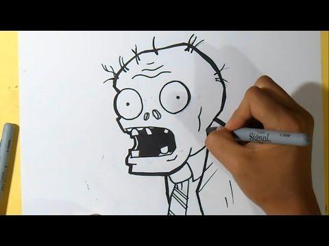 Comment dessiner un visage de zombie comment dessiner - Comment dessiner un zombie ...