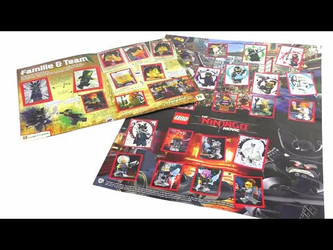 LEGO Ninjago Movie Stickeralbum / Alle 228 Sticker + 6 Bonussticker