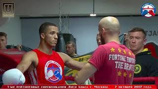 1-е рейтинговые бои Лига бокса г. Москвы – 07.10.17 г. до 75 кг.