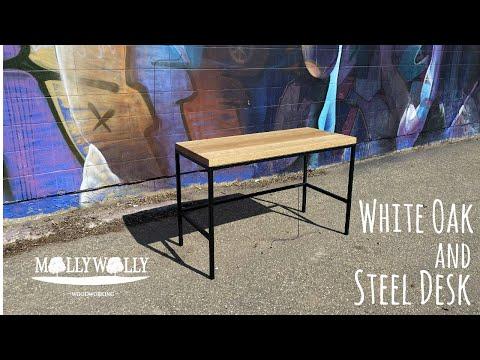 White Oak and Steel Desk Build