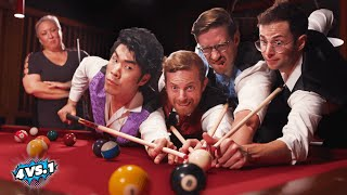 Can 4 Guys Beat A Professional Pool Player?