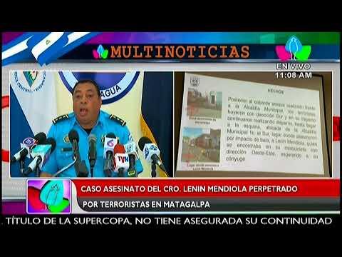 Policía Nacional presenta a terroristas implicados en el asesinato de Lenín Mendiola