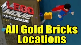 The LEGO Movie Videogame - All Gold Brick Locations - The Bonus Room