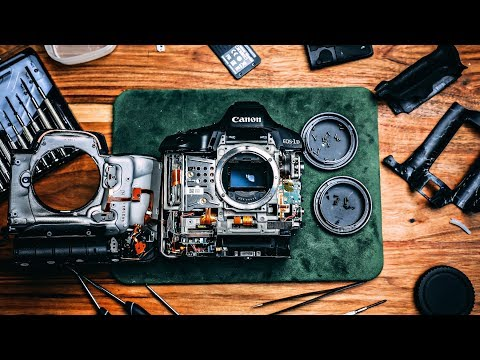 Tearing Apart a Professional DSLR Camera is Painful to Watch