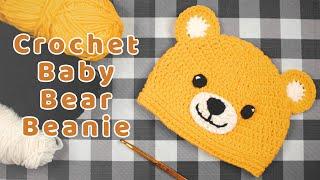 DIY Crochet Baby Bear Beanie   Easy & Fast Baby Bear Hat Tutorials   Chenda DIY