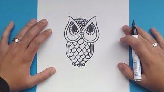 Como Dibujar Buhos Paso A Paso 123vid