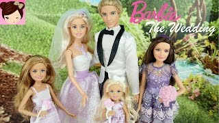 Barbie and Ken get Married - Doll Stories - Barbie Wedding Playset - Titi Toys