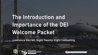 The Introduction and Importance of the DEI Welcome Packet
