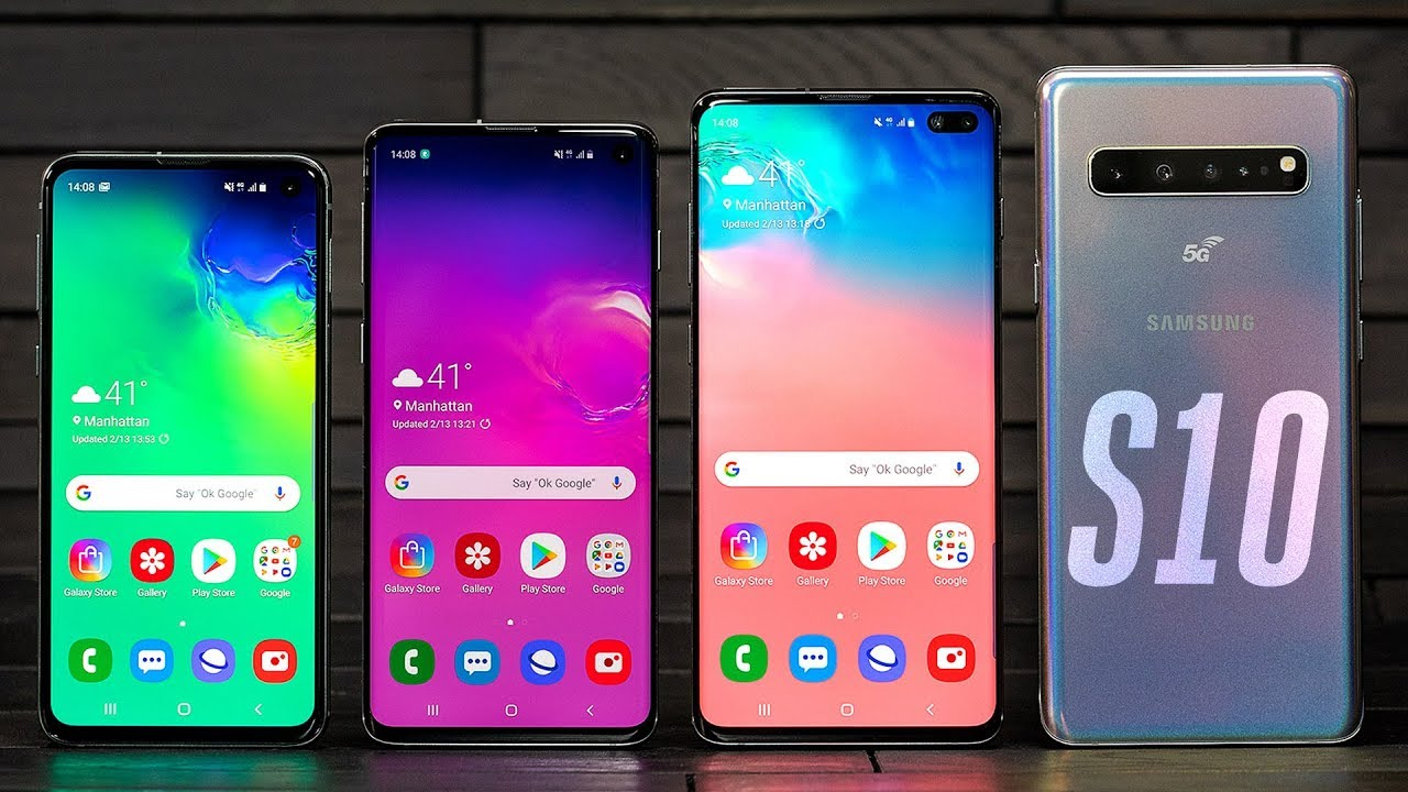 Samsung Galaxy S10 lineup hands-on thumbnail