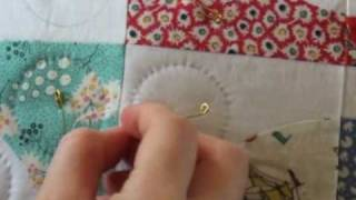 Hand Quilting 7 -- Tying Off (The End Knot)