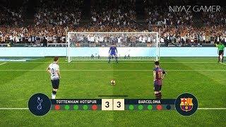 TOTTENHAM vs FC BARCELONA   Penalty Shootout   PES 2019 Gameplay PC