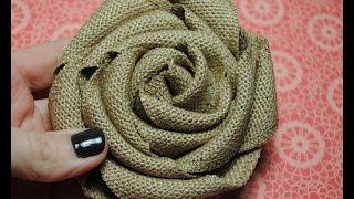Stampin Up Burlap Ribbon, Burlap Rolled Flower Tutorial